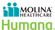 Molina Healthcare and Humana logo