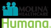 Molina Healthcare and Humana logo